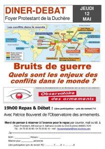 Dîner-débat à la Duchère : Bruit de Guerre – ANNULE