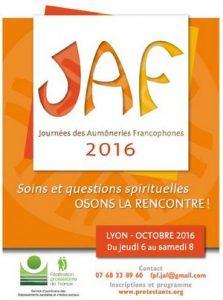 Journées des Aumôneries Francophones (JAF) 2016 à Lyon