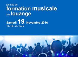 Journée deformation musicaleà la louange