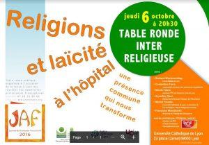 Table ronde interreligieuse : Religions et laïcité à l'hôpital