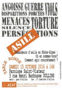 Table ronde sur les demandeurs d'asile en Rhône Alpes