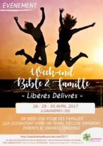 Week-End Bible et Famille en Avril 2017, le programme est arrivé