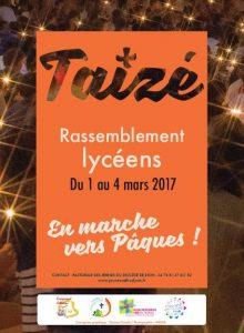 Taizé – Rassemblement lycéens en Mars 2017