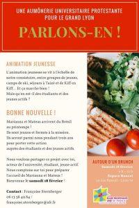 Une aumônerie Universitaire Protestante pour le Grand Lyon, Parlons-en !