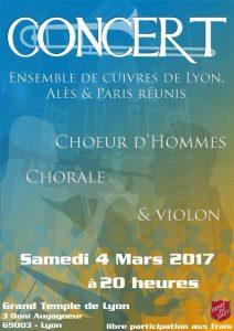 50 Musiciens en Concert le 4 Mars