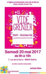 Vide-grenier & défi solidarité : Réunion le 2 Mai