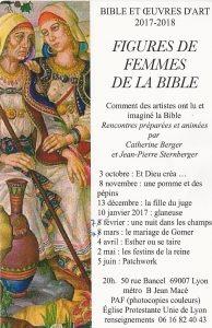 Bible et œuvres d'Art 2017 : Cette année, «Figures de Femmes»