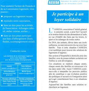 Réunion projet «Loyer solidaire»