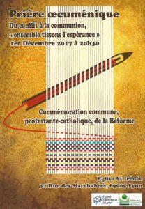 Prière Oecuménique le 1er Décembre