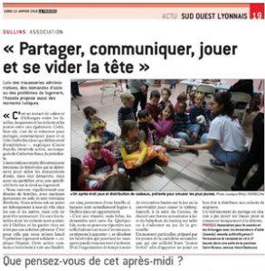 Un article du «Progrès» sur ASSEDA