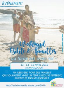 Week-End Bible et Famille en Avril 2018