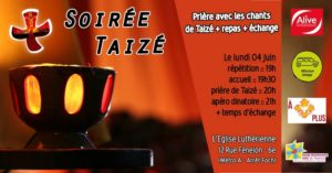 Soirée chants & prières de Taizé le 4 Juin