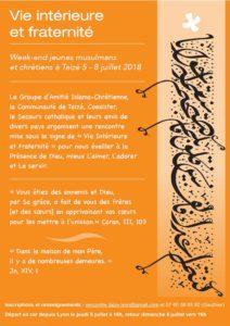 Taizé en Juillet : Week-end d'amitié entre jeunes musulmans et chrétiens