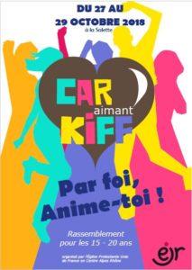 Car Aimant Kiff 2018, du 27 au 29 Octobre à la Salette