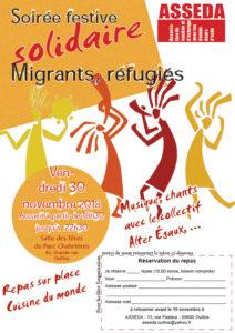 ASSEDA : soirée festive solidaire le vendredi 30 novembre