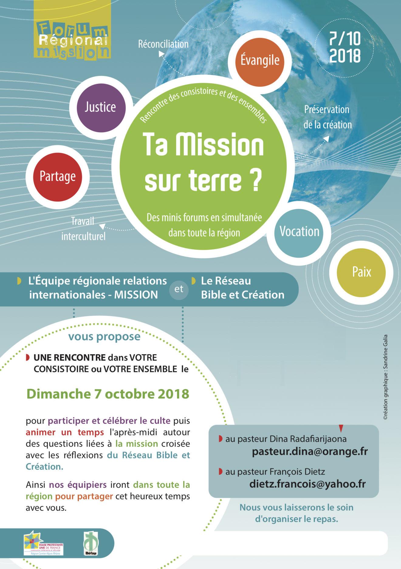 Des Forums Missions en Octobre