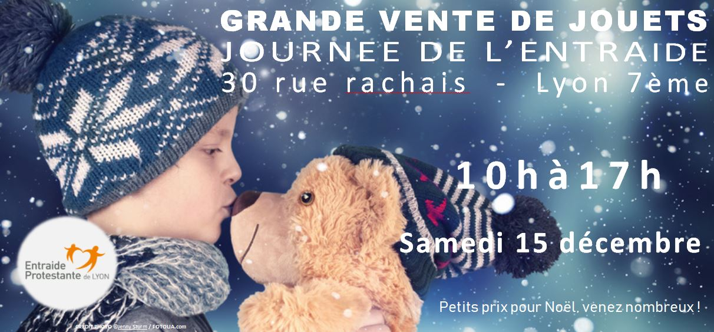 Journée de l'entraide : Vente de jouets le 15 Décembre