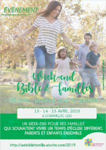 Week-End Bible et Famille en Avril 2019 – le flyer