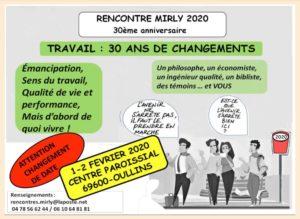 les 30 ans de Mirly : les 1 et 2 février 2020