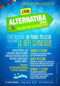 Alternatiba  à Lyon les 9, 10 et 11 octobre 2015 : Changeons le système, pas le climat !