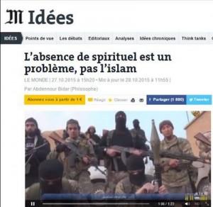 L'absence de spirituel est un problème, pas l'Islam (résume par Guy Bottinelli)