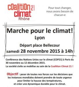 COP21 : Marche pour le climat à Lyon