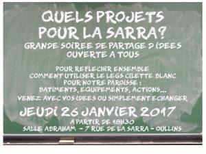 Retours sur la réunion «Quels projets pour La Sarra ?»
