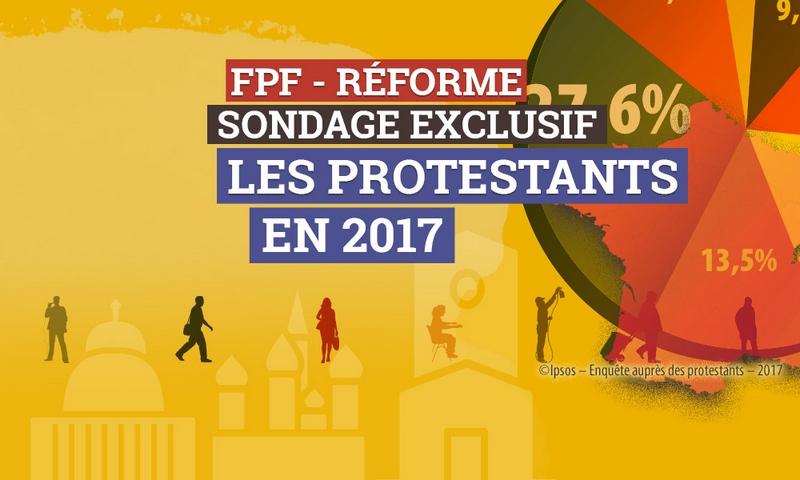 """Dans le journal """"Réforme"""", un sondage sur les Protestants en France en 2017"""