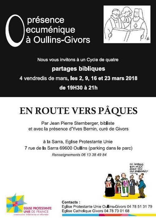 Presence Oecumenique en Mars 2018 à la Sarra