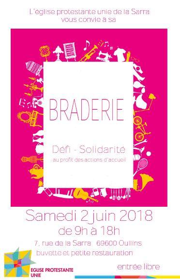 braderie le samedi 2 juin de 9h à 18h à La Sarra