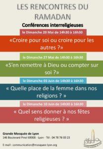 Conférences inter-religieuses du Ramadan à la grande mosquée de Lyon