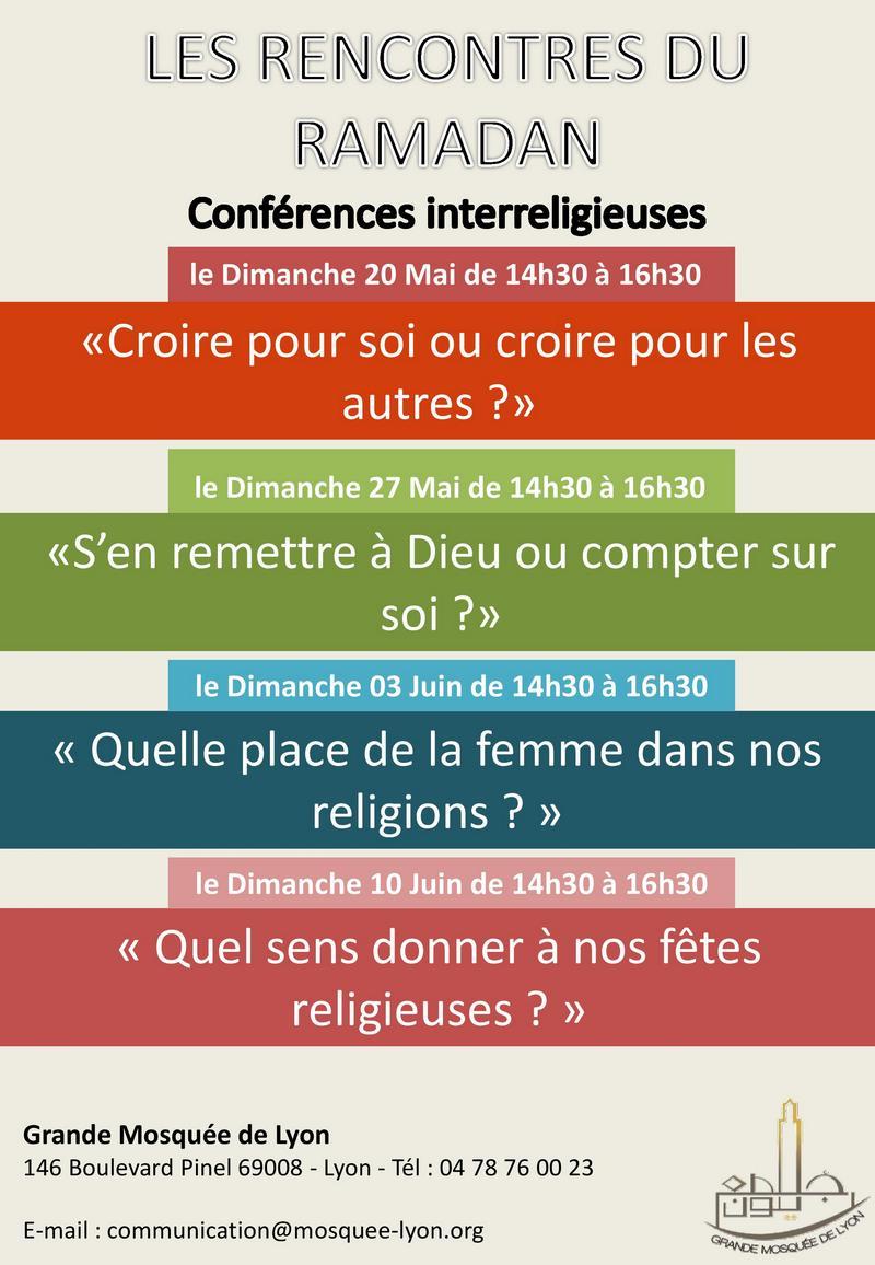 Conferences Ramadan 2018