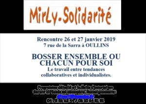 30ème Rencontre de MIRLY, les 26 & 27 janvier 2019