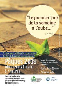 Aube pascale œcuménique, dimanche 21 avril 2019