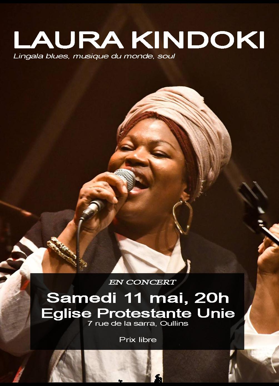 Laura Kindoki en concert le samedi 11 mai à la Sarra