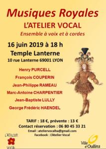 Concert dimanche 16 juin 2019 au  Temple Lanterne