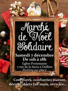 Notre marché de Noël solidaire, le samedi 7 Décembre