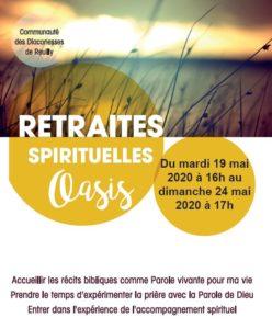 Retraite OASIS en Mai 2020 : «Orienter ma vie»