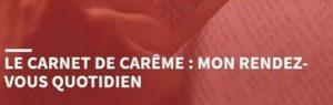 «Carnet de Carême» quotidien par le pasteur Franck Nespoulet