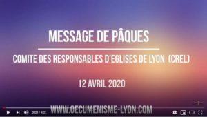 Message de Pâques 2020 du Comité des Responsables des Eglises de Lyon (CREL)