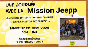 Invitation journée de la mission JEEPP le samedi 17 Octobre 2020 à l'Eglise Luthérienne