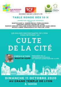Culte de la cité dimanche 11 Octobre
