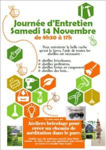 Journée d'entretien samedi 14 Novembre