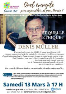 Conférences de Carême : «Quelle éthique pour aujourd'hui et pour demain» le 13 Mars