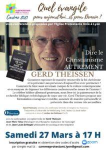Conférences de Carême : «Dire le Christianisme autrement» le 27 Mars
