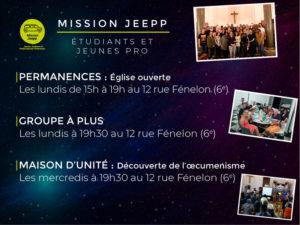 Annonces de la mission Jeepp
