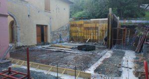 Projet Sarra Coeur : Coffrages, dalle et premiers murs